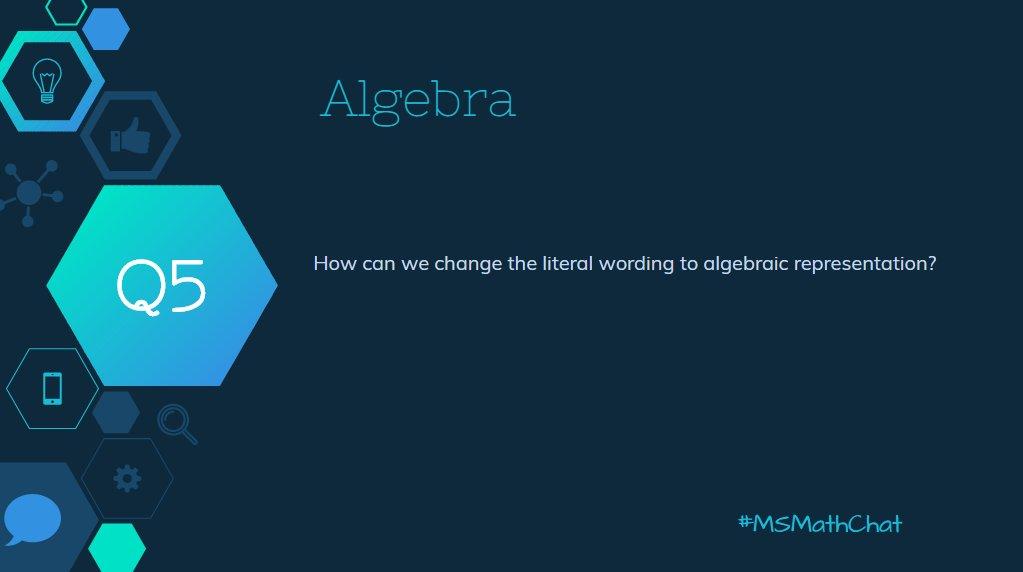 How can we transform literal description to algebraic representation? #msmathchat https://t.co/DeOojhkhrM