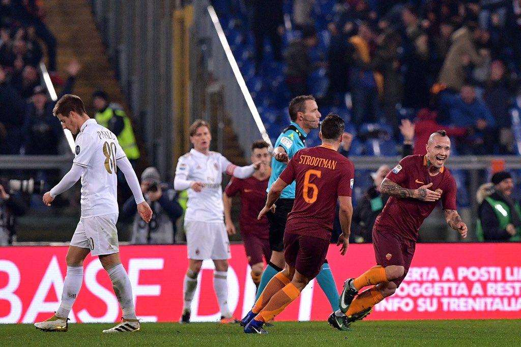 Roma anti-Juventus con l'invenzione di Nainggolan: Milan sconfitto 1-0