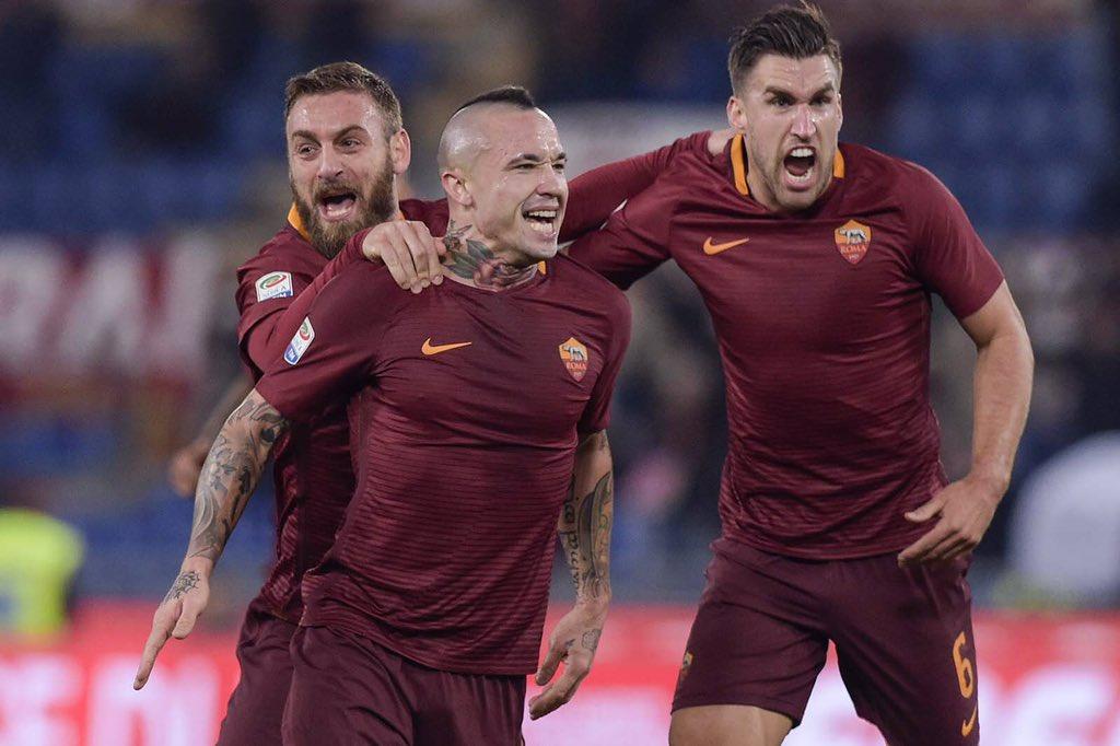 ROMA MILAN 1-0 Video: con Nainggolan la Roma va a Torino contro la Juventus con -4 punti in classifica