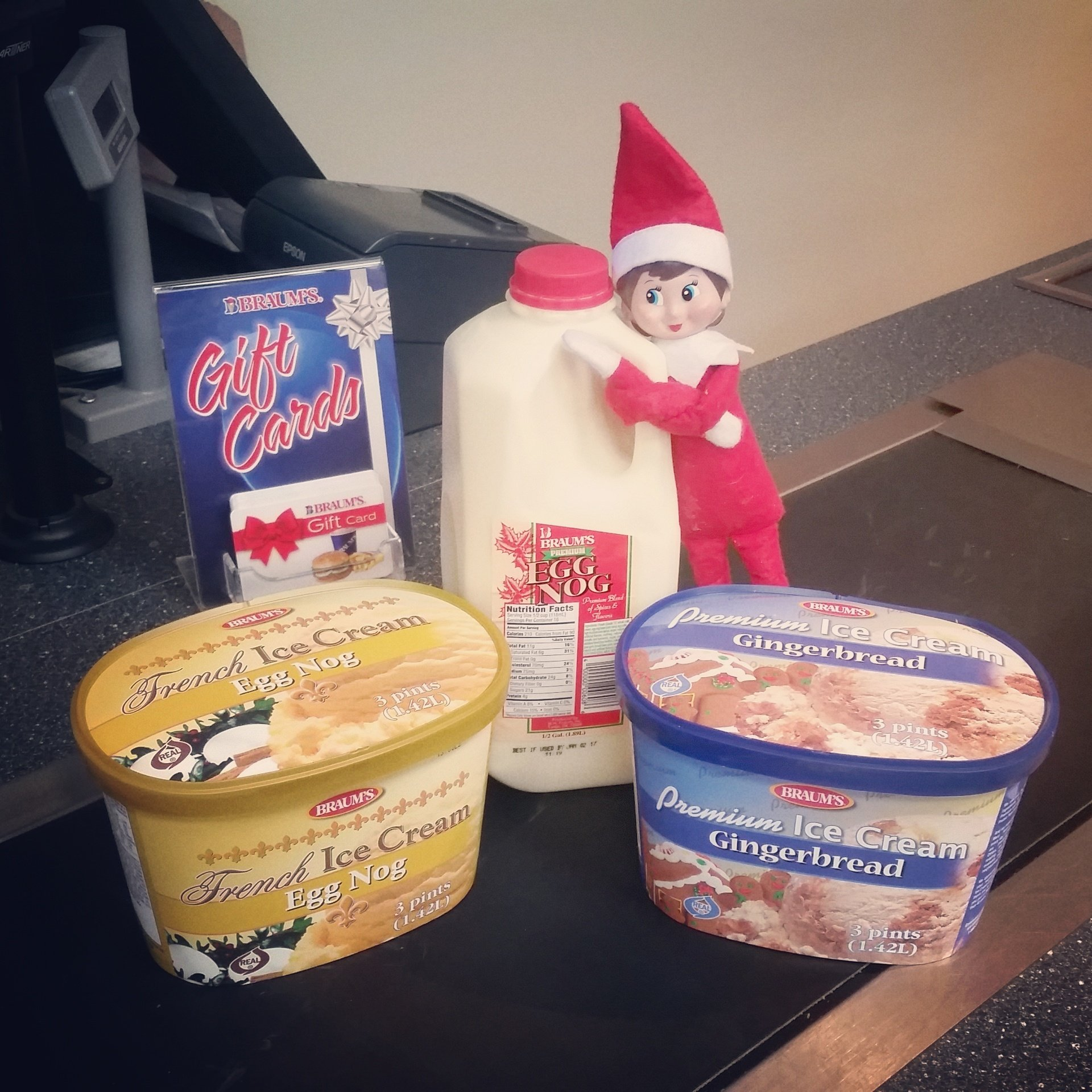 Braum S Ice Cream On Twitter All Ice Cream Is 2 For 6 This Week Stock Up Like Peppermint Patti Did Don T Forget The Egg Nog Gift Cards For Stocking Stuffers