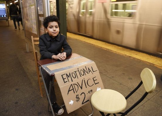 Brooklyn's youngest shrink offers advice at the Bedford Ave L train platform - https://t.co/fiawx32g8Y https://t.co/XrtkHBAIxQ