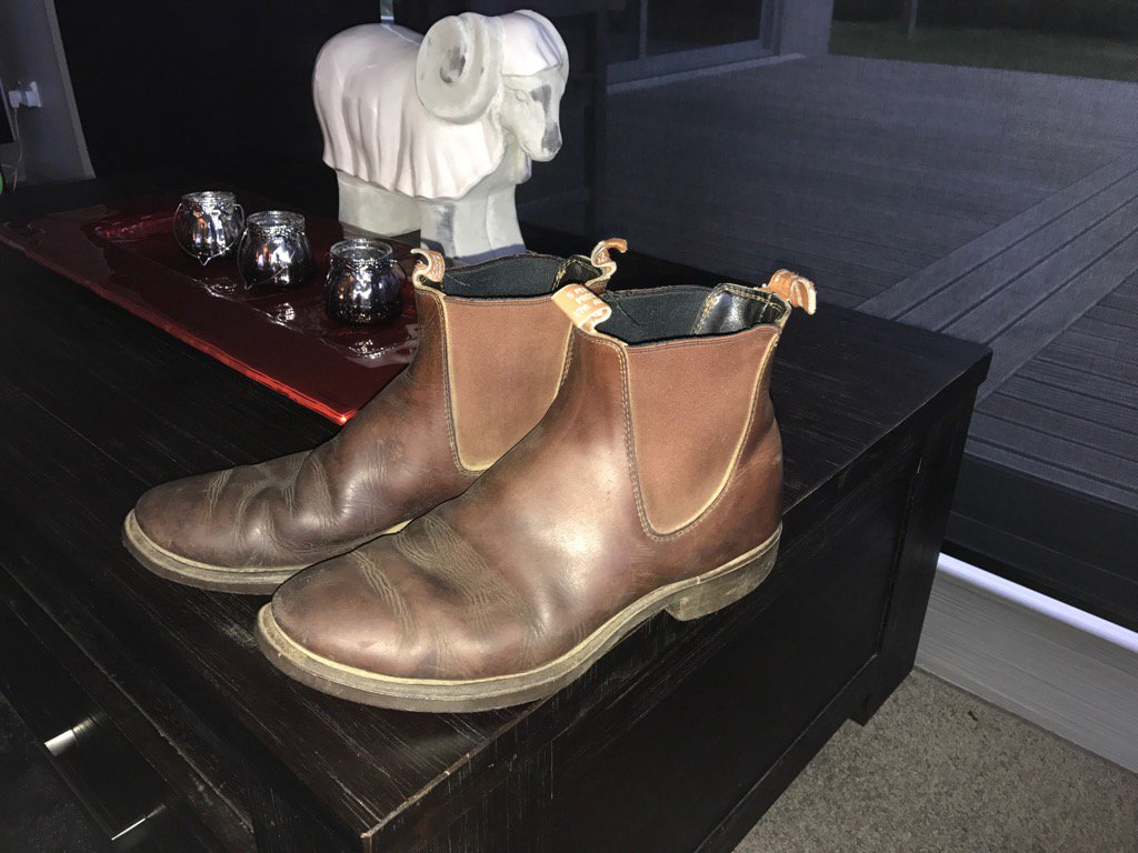 Hate to give Aussies credit, but these boots are 19 years old now. Still going strong. @RMWilliamsUK