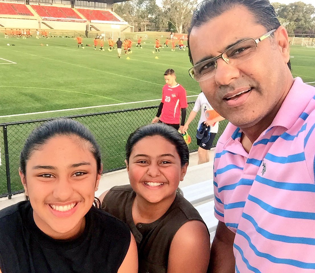 Image result for name of daughter waqar younis