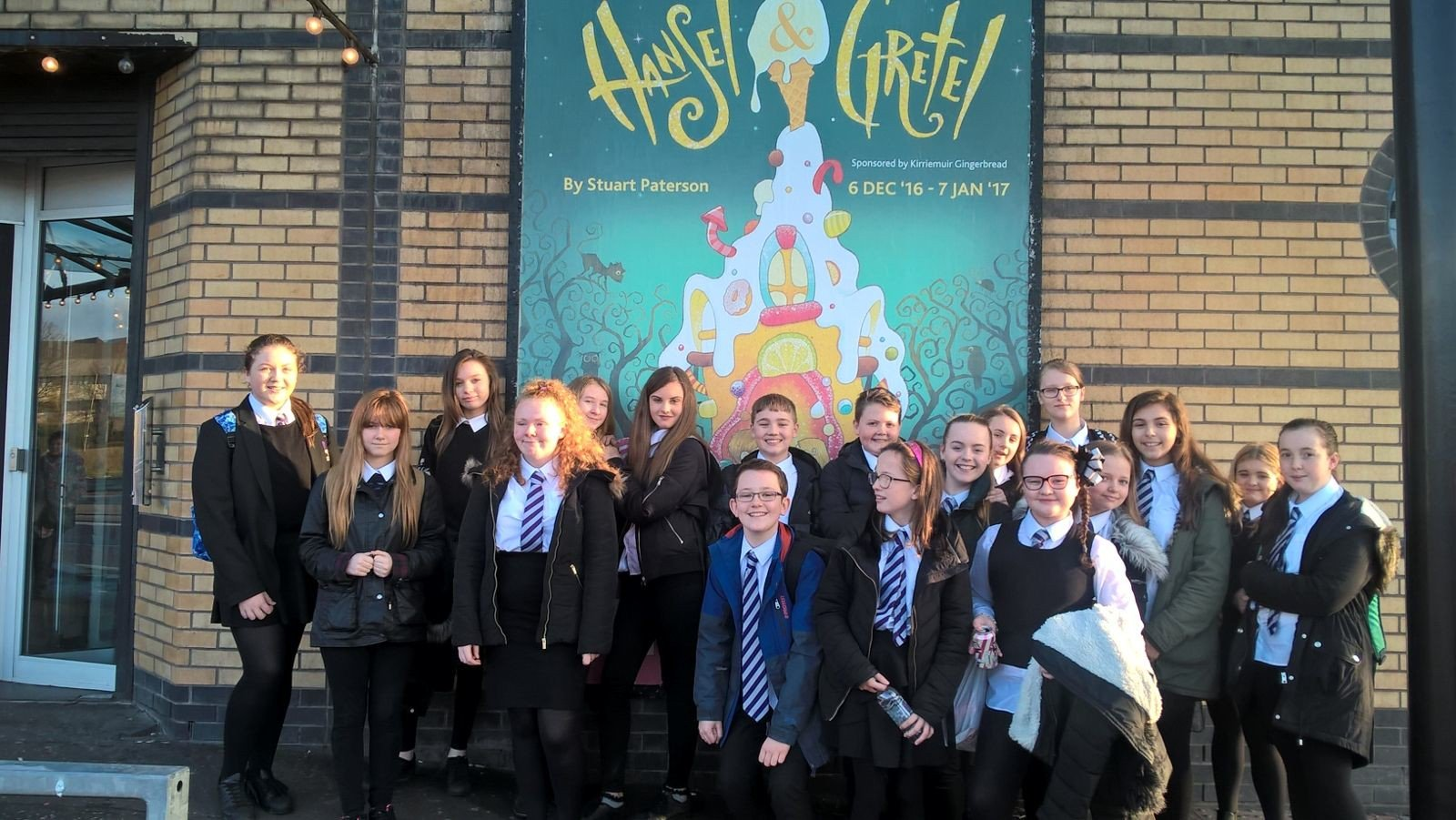 The Drama Club about to watch the excellent Hansel and Gretel at The Citz #HanselandGretel #citz https://t.co/x4QZ9zmeuY