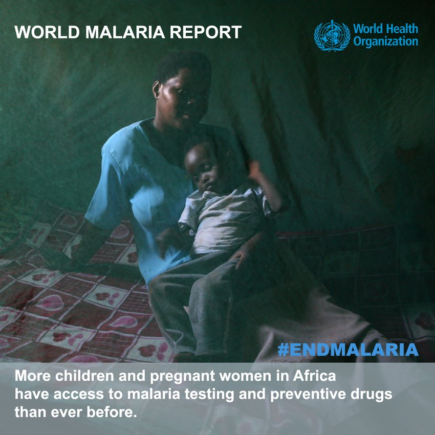 Promotional poster for the World Malaria Report 2016, from WHO