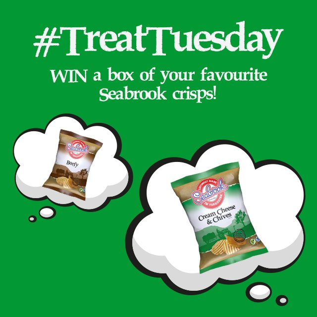 It's #TreatTuesday at Seabrook - RT and Follow us to #win a whole box of your favourite flavour crisps! https://t.co/dLTy0tIrDU