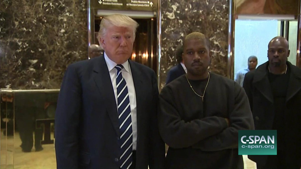 Trump and Kanye West gaggle now LIVE on C-SPAN #elevatorcam https://t.co/9KSyS33mtI