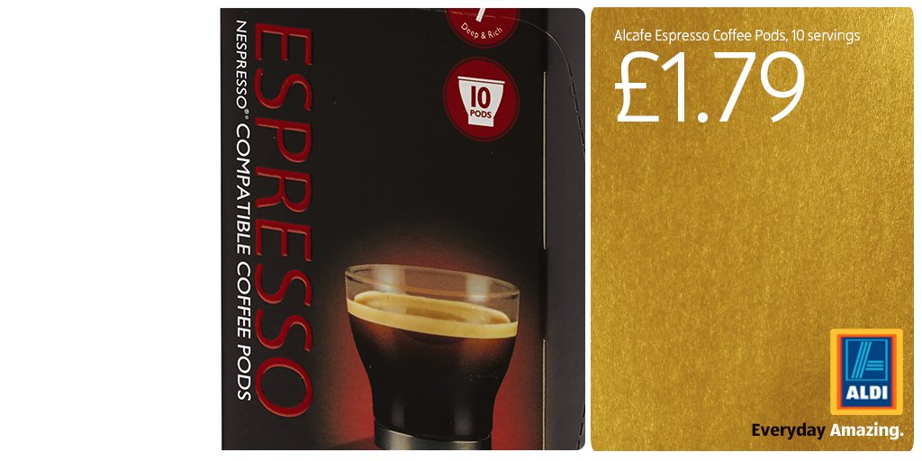 aldi stores uk on twitter our coffee pods are compatible. Black Bedroom Furniture Sets. Home Design Ideas