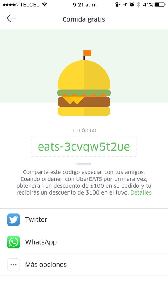 codigo promo de uber eats