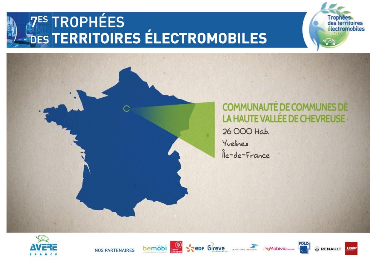 Un territoire exemplaire alliant #mobilité #électrique et lien #social : la CC de Haute Vallée de #Chevreuse récompensée par un #TrophéeVE ! https://t.co/D5RdeSh6r0