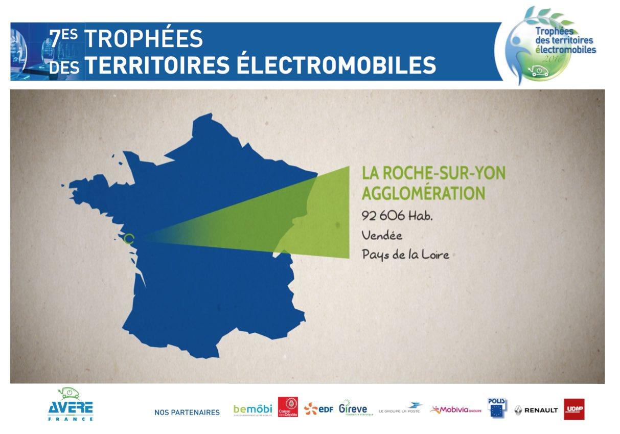 Fiers de récompenser l'agglo de @LRSY_ville pour ses actions et son #innovation pour la #mobilité #électrique ! cc @anne_sicard https://t.co/Sst2l0Fulk