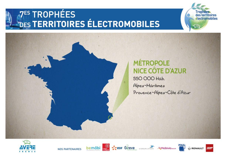 La #MétropoleNCA est récompensée pour ses actions en faveur de la #mobilité #électrique #TrophéesVE cc @VilledeNice https://t.co/rcgAvdk8Co