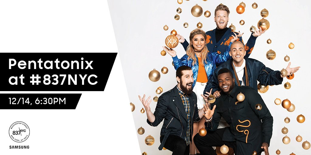 twitter new york magazine catch ptxofficial at 837nyc as they premiere a pentatonix christmas special and answer questions live