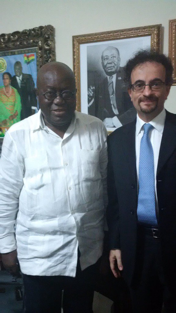 A great honour to call on Ghana's President-elect @NAkufoAddo earlier to hand him a letter from our Prime Minister. https://t.co/OlRweFvHjo