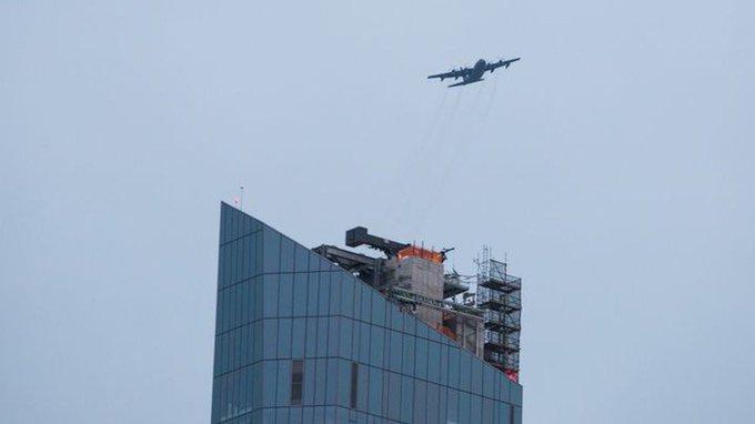Картинки по запросу Для чего таинственный военный самолет кружил над Трамп-Тауэр на малой высоте