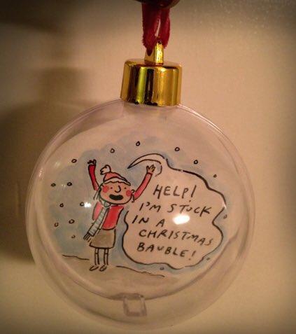 Help! I'm #trappedinachristmasbauble