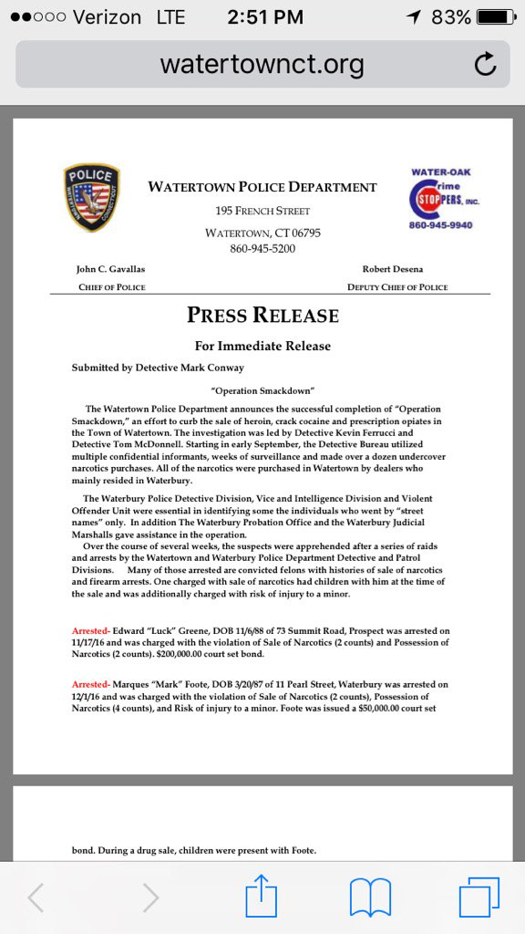 Watertown CT Police (@Watertownctpd) | Twitter
