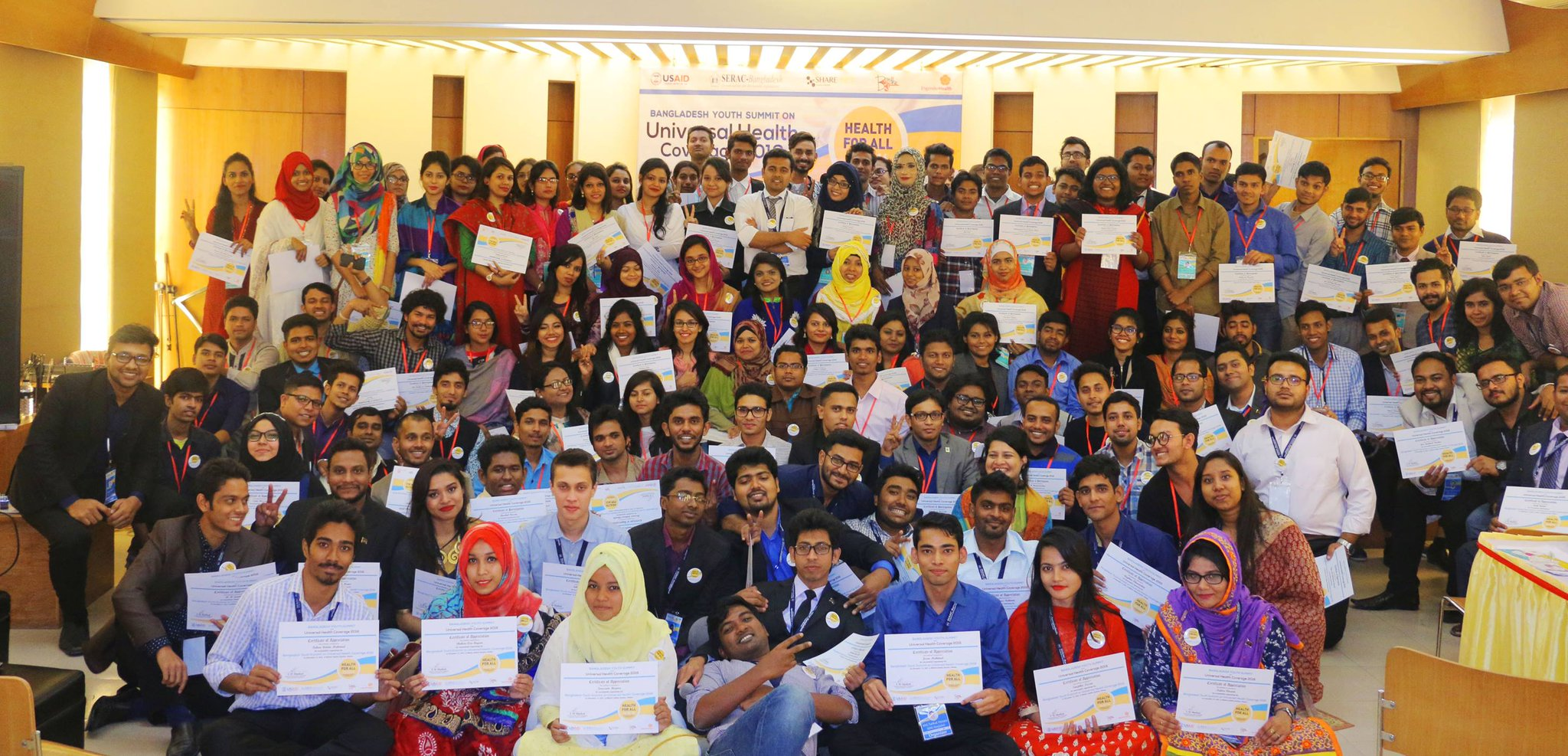 Yesterday @SERAC_BD hosted the first-ever Bangladesh Youth Summit on #UHC, where 150 young leaders gathered to discuss #HealthForAll! https://t.co/0hfYXtdh8Q