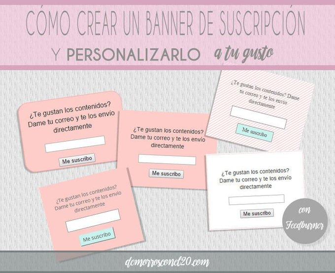 Cómo crear un banner de suscripción y personalizarlo
