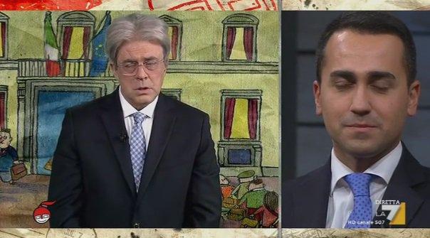 VIDEO Copertina Crozza diMartedì 13 Dicembre 2016 (ieri sera) sul Governo Gentiloni e imitazione