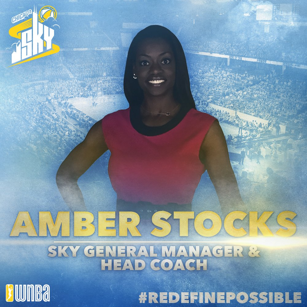The Sky welcomes Amber Stocks to Chicago! Today the Sky named Stocks as the new Head Coach and General Manager. https://t.co/JQhEQtJSnu
