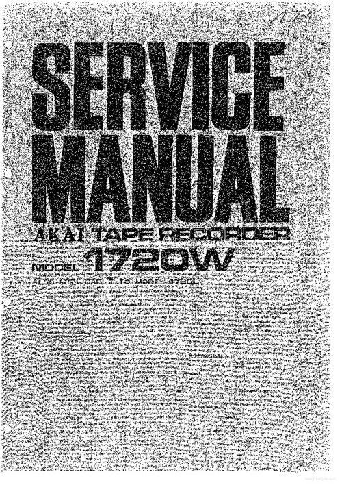 Akai 1720l manual