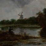 Fishing near Naarden in 1646! Jacob van Ruisdael (1628-1682) https://t.co/BtFpp6wHNc @TEFAF #TEFAF2017