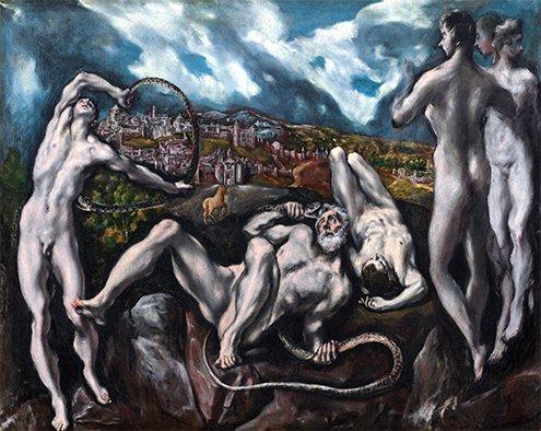 Hay otras representaciones como la del Greco, Vaticano. Al fondo de la escena podemos apreciar un paisaje de Toledo, no Troya #ASG #storart1 https://t.co/ynbi3ECWnQ