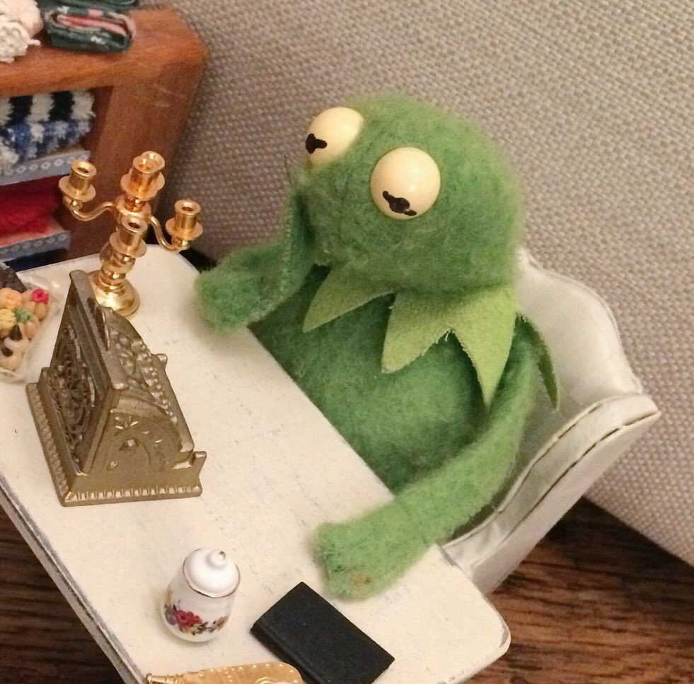 Nate Zed On Twitter Who Owns This Kermit Doll And Why Do They Keep Making Him Look So Sad