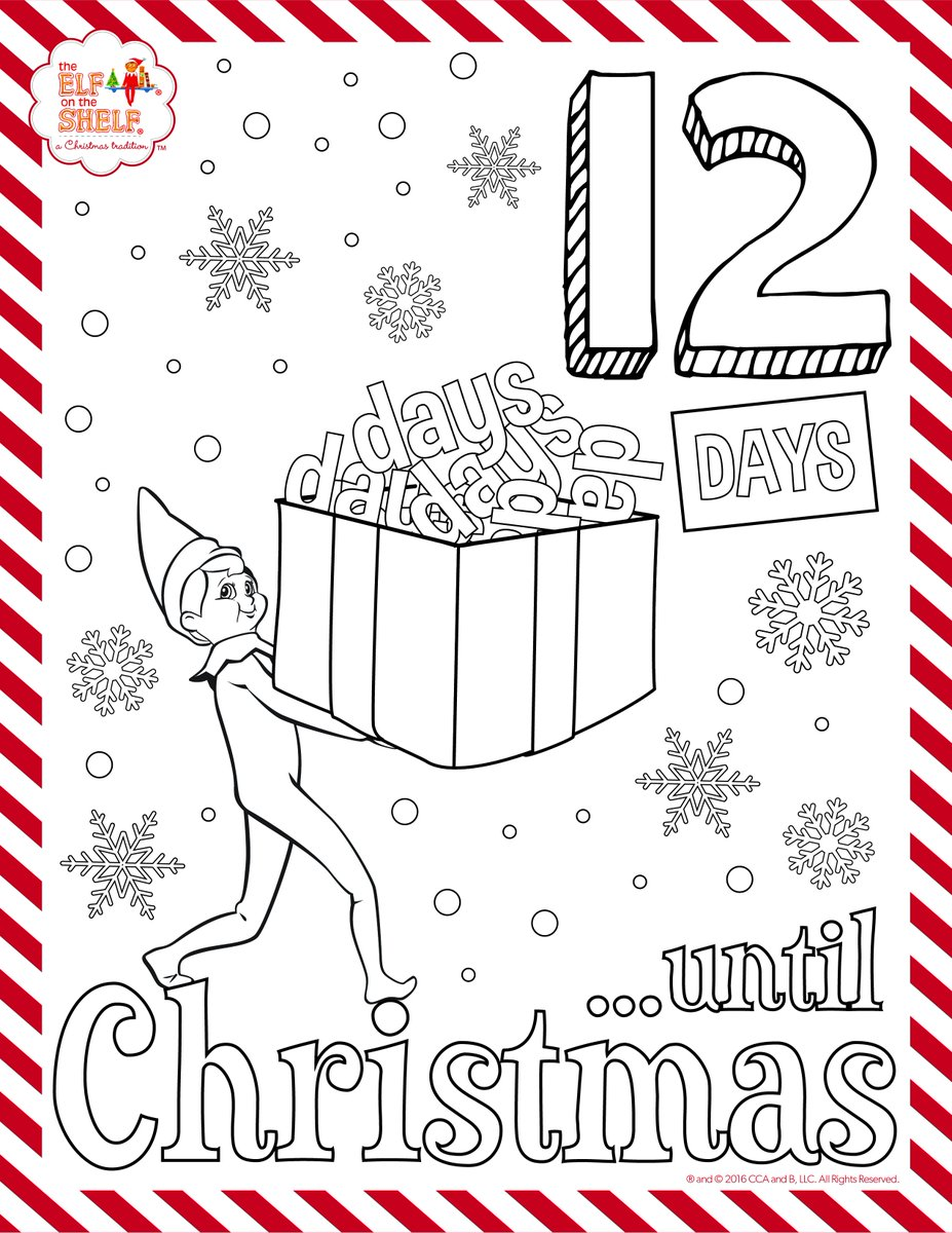 Get the full set of coloring pages to countdown with on facebook http bit ly printable christmas countdown pic twitter com vfjgbknoym