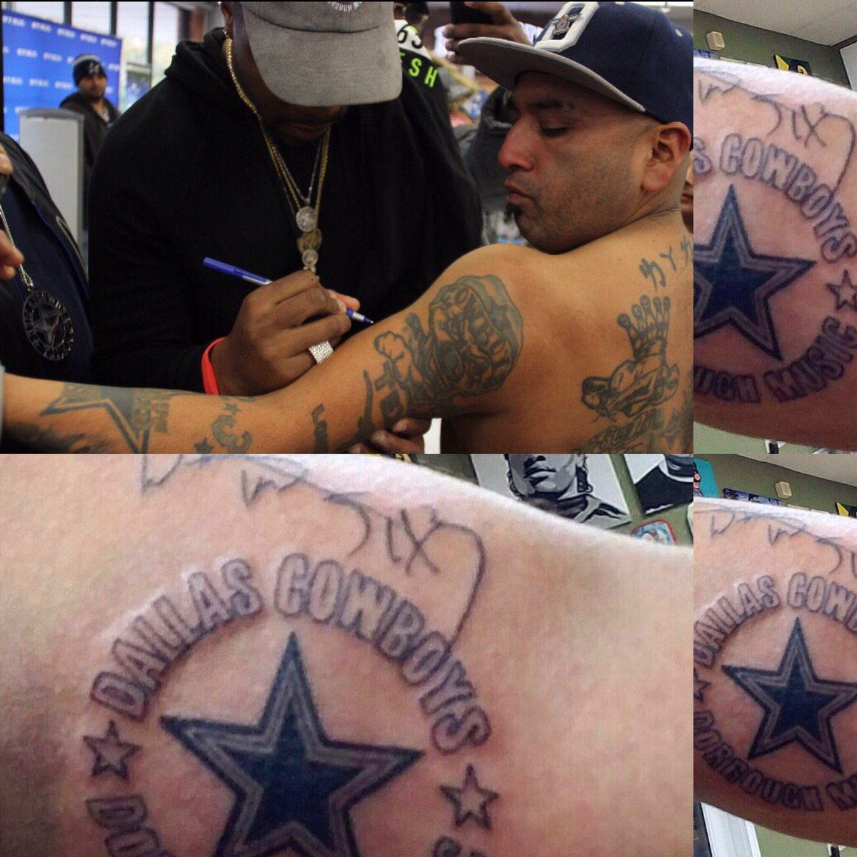 Signed Homie Arm and he went and got it tatted on em. True Fans I respect. 1000 https://t.co/wpkPMlgerK