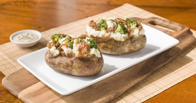 Comfort Food: Beef & Broccoli Loaded Baked Potato Recipe