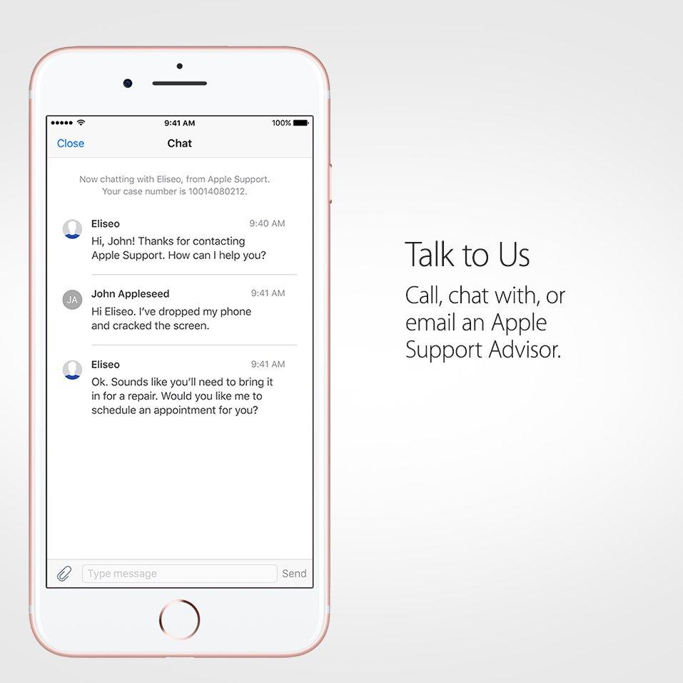 apple support advisor call