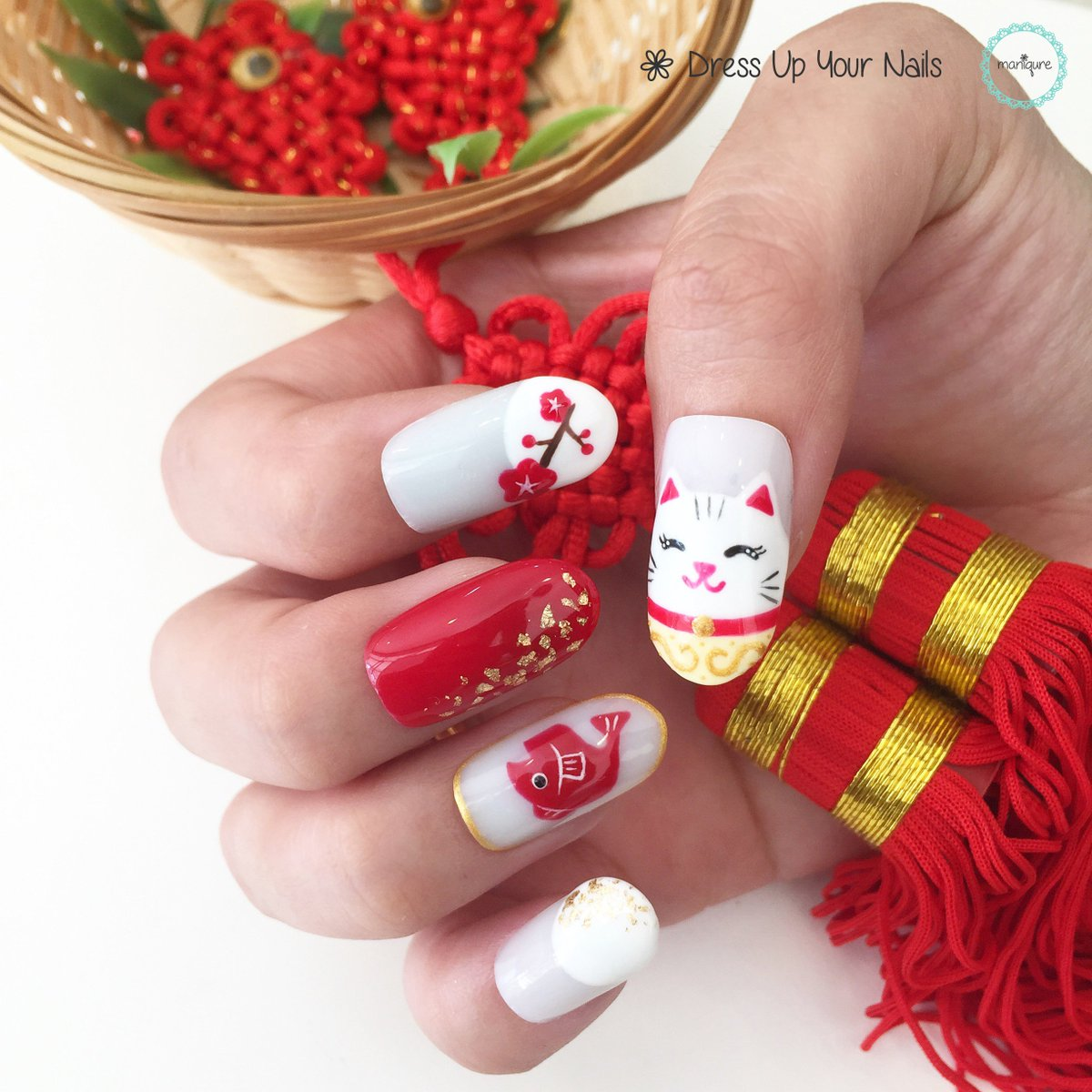 Nail Art Design Chinese New Year 2017 Hession Hairdressing