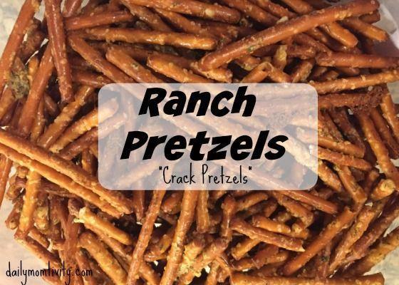 """Ranch Pretzels {""""Crack Pretzels""""}"""