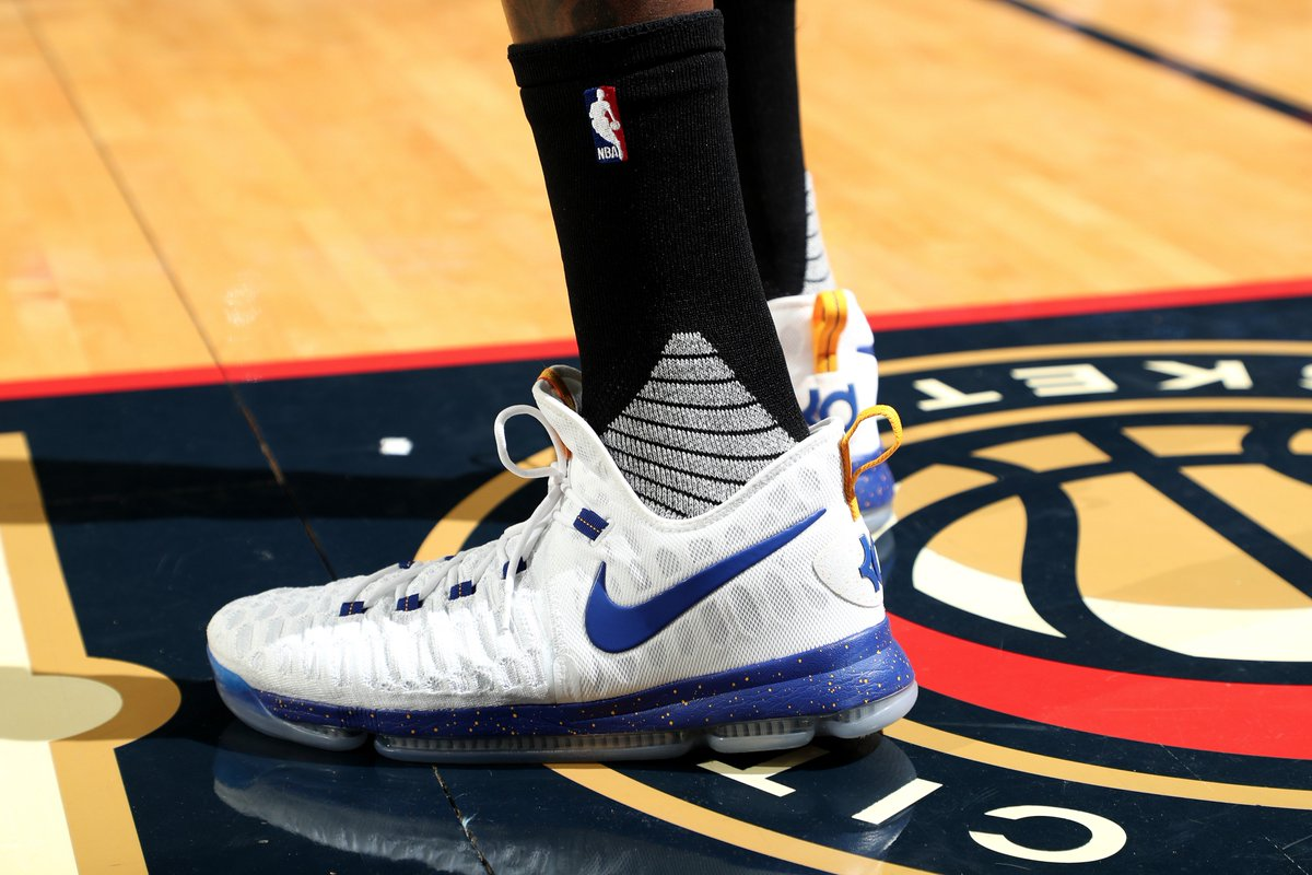 6cac35d4937 easy money sniper kevin durant in another nike zoom kd 9 pe tonight vs new  orleans