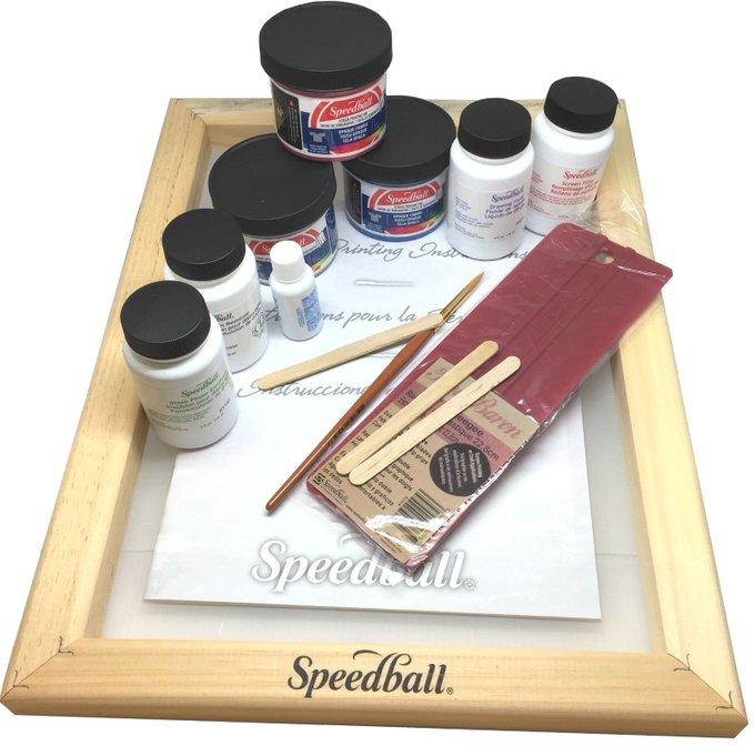 Speedball Super Value Opaque Fabric Screen Printing Kit