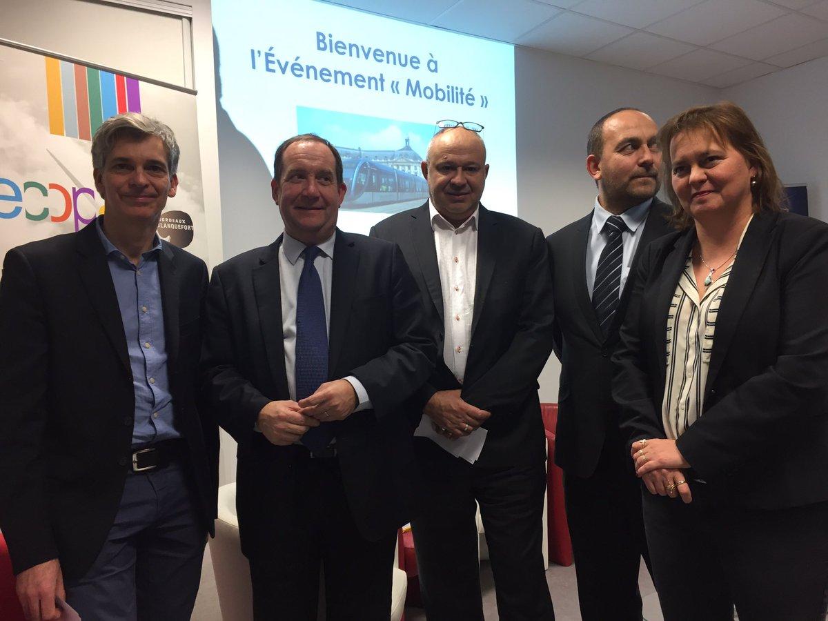 """.@Bdx_Technowest accueille l'événement """"mobilité"""" : @BxMetro à la rencontre des entreprises avec @info_tbm Arrivée du #tram à #Blanquefort"""