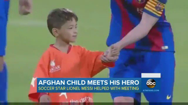 newest collection a7d6e 067a4 Afghan Refugee Meets Hero Messi | Baaz