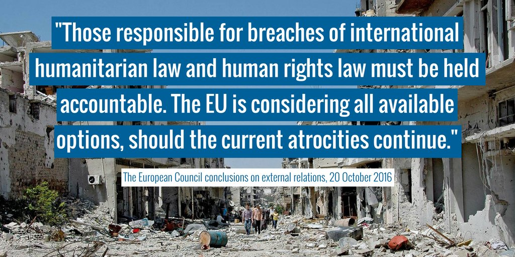 The atrocities have continued. The EU Council must act now to #SaveAleppo.