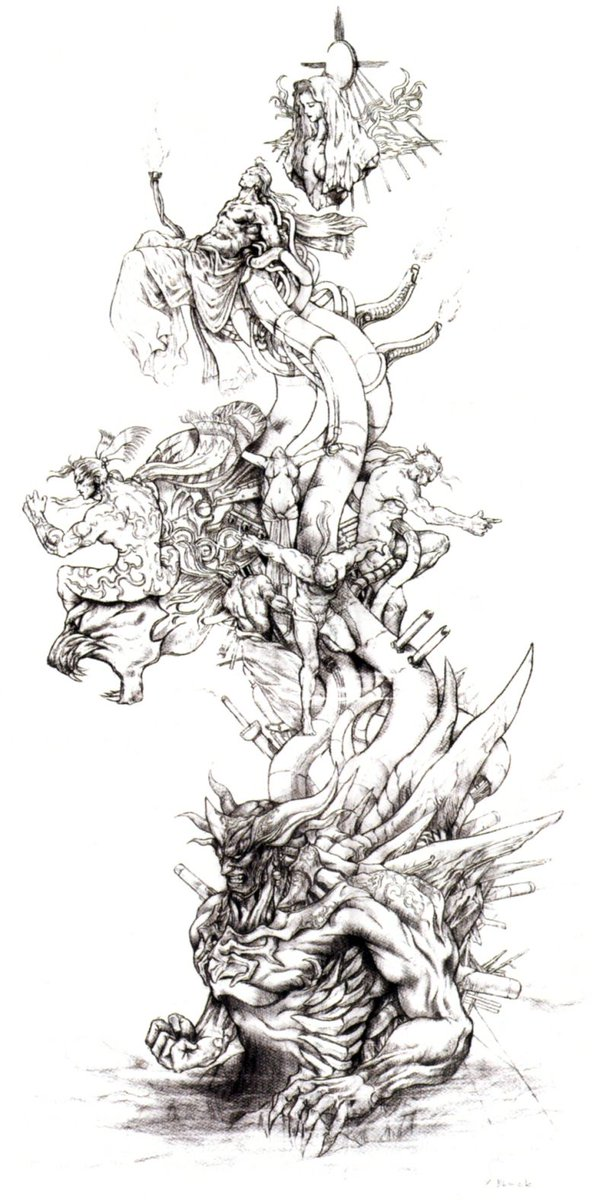 a lovely reminder of how glorious Tetsuya Nomura's sketch of FFVI's final boss was... https://t.co/lEzX4zufeR