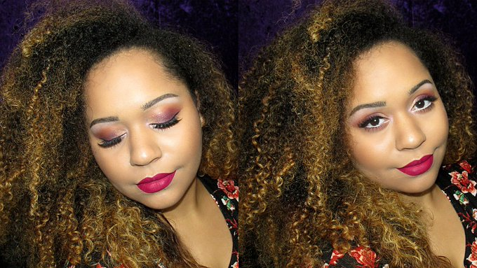 BERRY AND WINE TONES & GLITTER HIGHLIGHT