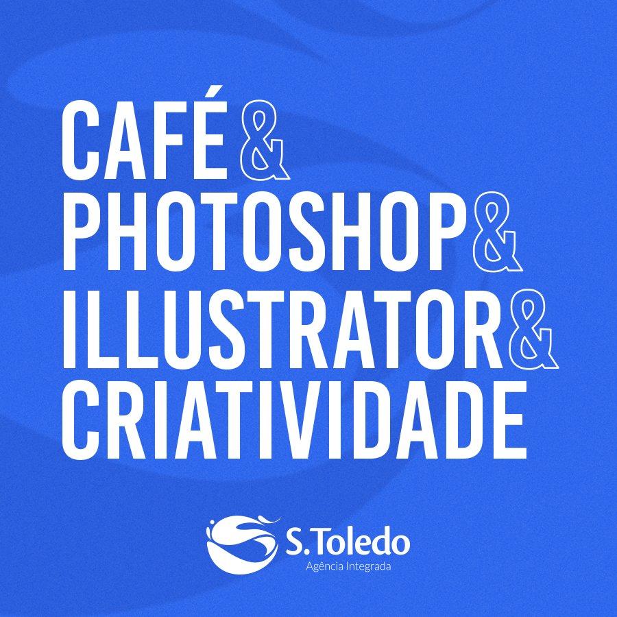 Café nunca sobra, criatividade nunca falta! 💙 #AgênciaStoledo https://t.co/BkBnV9Gspp