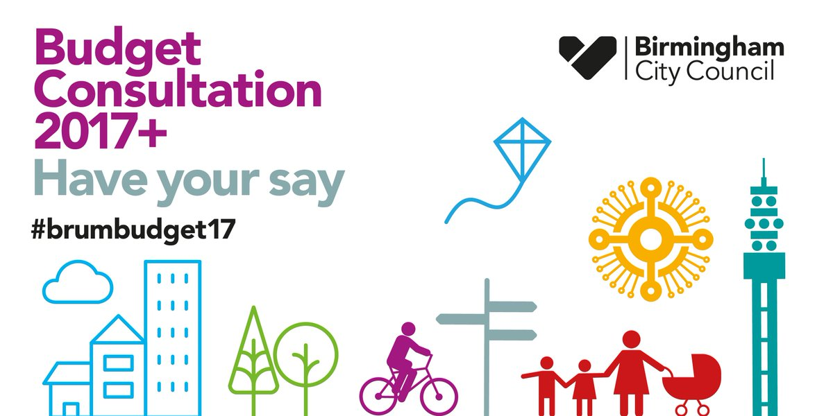 Please have your say on Birmingham City Council #BrumBudget17 consultation here https://t.co/l1TpNtBHD3 #brum https://t.co/HXInCmSlc5