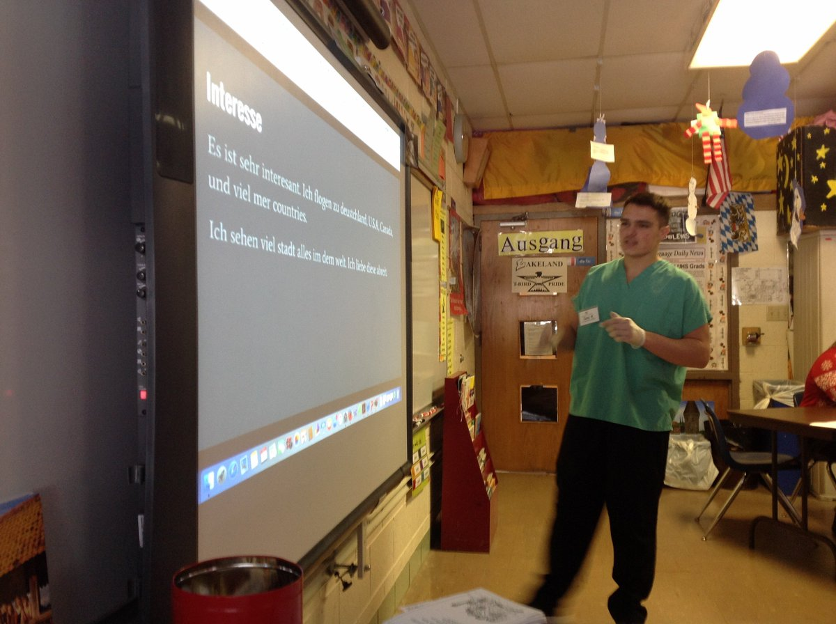 AP German4 Students Did Some Career Cruising Auf Deutsch By Giving Speeches In German About Their Future Pathpictwitter WslWSrTdf6