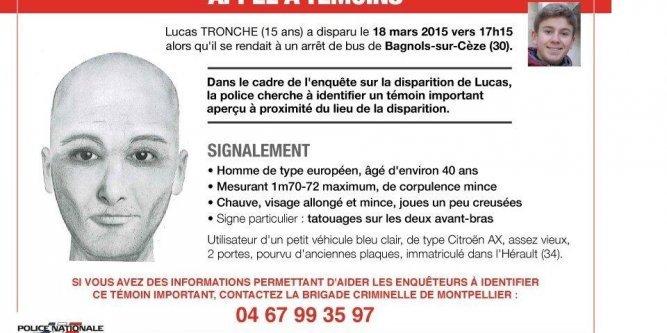 🔴 Disparition de Lucas Tronche : la police diffuse le portrait-robot d'un témoin -INFORMATION A DIFFUSER - https://t.co/wk87EWAyUJ