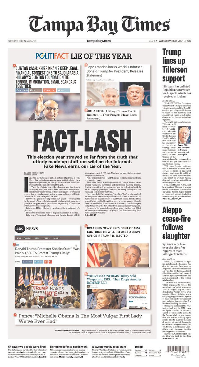Today's 1A | @PolitiFact's 2016 Lie of the Year: #fakenews » https://t.co/uZIKz2VTlX https://t.co/C31heZgpA0