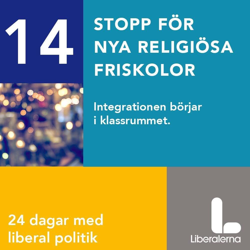 Liberalerna vill satta stopp for religiosa friskolor