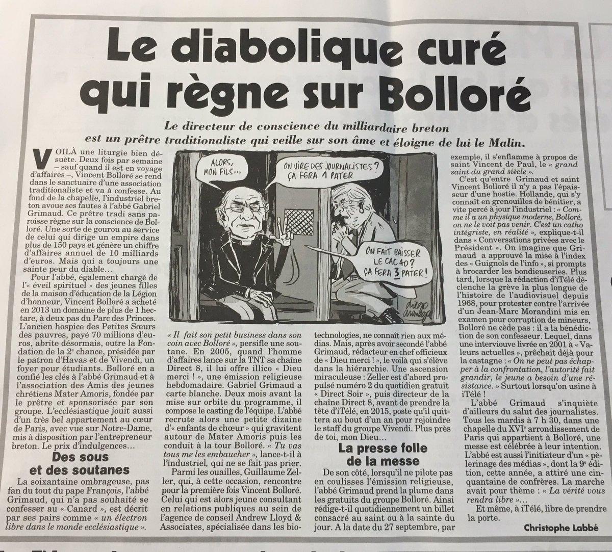 """Résultat de recherche d'images pour """"abbé grimaud ET bolloré"""""""