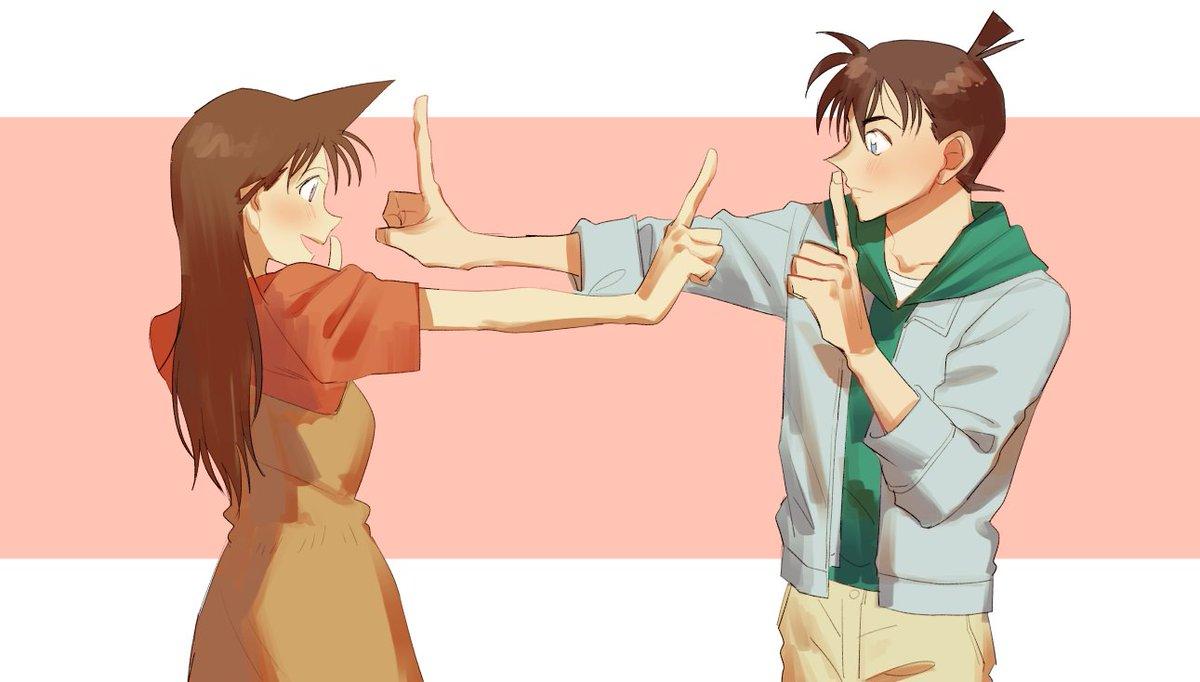コナンカップルで恋ダンス踊って欲しい…? それぞれ着てる服は個人的にお気に入りアニメ回のやつ